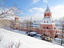 Kremlin landskap royaltyfri fotografi
