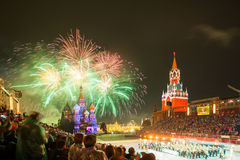 Kremlin Military Tattoo Music Festival in Red Square. Stock Photography