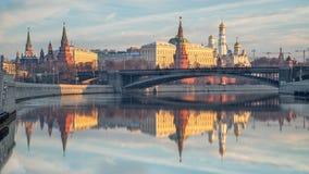 kremlin morgon moscow Arkivbild