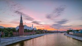kremlin morgon moscow Royaltyfri Fotografi