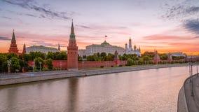 kremlin morgon moscow Royaltyfri Foto