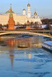 kremlin moscow Фото зимы цвета Стоковое Изображение
