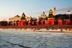kremlin moscow Фото зимы цвета Стоковые Изображения RF