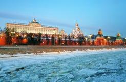 kremlin moscow Фото зимы цвета Стоковая Фотография
