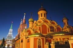 kremlin moscow Церковь значка Казани Место всемирного наследия Unesco Стоковое Изображение