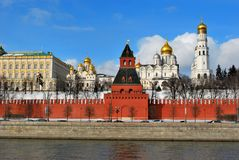 Kremlin, Moscow. Kremlin view from Moscova river, Moscow Royalty Free Stock Photos