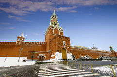 Kremlin in Moscow. Panoramic view on Moscow Kremlin  and Red Square in winter Stock Images