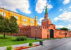 Kremlin Moscow at day, Russia royalty free stock photos