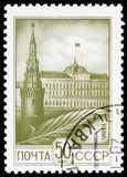 Kremlin, Moscow, Definitive Issue No.12 serie, circa 1986. MOSCOW, RUSSIA - MAY 25, 2019: Postage stamp printed in Soviet Union (Russia) shows Kremlin, Moscow stock images