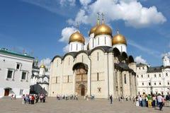kremlin moscow Domkyrka av antagandet royaltyfria foton