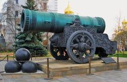 kremlin moscow Färgfoto Konung Cannon Arkivbild