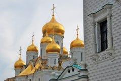 kremlin moscow Färgfoto 19th för domkyrkaårhundrade för annunciation 17 kharkov för stad landmark ukraine arkivfoto