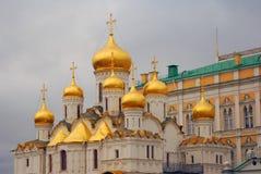 kremlin moscow Färgfoto 19th för domkyrkaårhundrade för annunciation 17 kharkov för stad landmark ukraine Fotografering för Bildbyråer