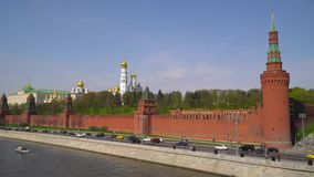 Kremlin, Moscow. Grand Kremlin palace. Ivan The Great Bell Tower. Archangel cathedral. Annunciation cathedral. stock footage