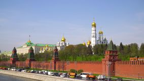 Kremlin, Moscow. Grand Kremlin palace. Ivan The Great Bell Tower. Archangel cathedral. Annunciation cathedral. stock video