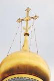 kremlin moscow Guld- kupol av den gamla kyrkan Royaltyfri Foto