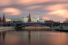 kremlin moscow I morgonen Royaltyfri Fotografi