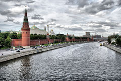 Kremlin Moscow, Moscow River, Russia Stock Images