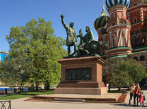 kremlin moscow nära statyn Royaltyfria Foton
