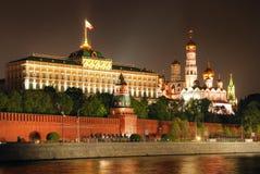 kremlin moscow natt Royaltyfria Bilder