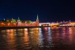kremlin moscow natt Royaltyfria Foton