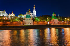 Kremlin in Moscow at night Stock Photography
