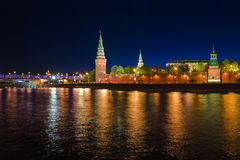 Kremlin in Moscow at night Royalty Free Stock Image