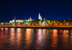 Kremlin in Moscow at night Stock Images