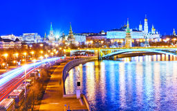 The Kremlin in Moscow at night Stock Image