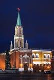 kremlin moscow nikolskayatorn Royaltyfri Bild