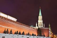 kremlin moscow nikolskayatorn Royaltyfria Bilder