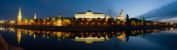 kremlin moscow panorama Arkivfoton