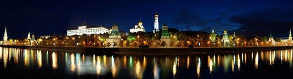 kremlin moscow panorama Royaltyfria Foton