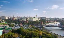 kremlin moscow panorama Royaltyfri Fotografi