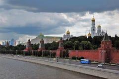 kremlin moscow panorama Färgfoto arkivbild