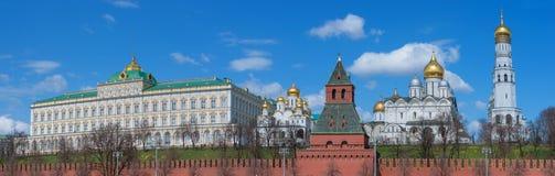 kremlin moscow panorama- siktsvinter Ryssland royaltyfri fotografi