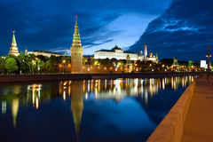 Kremlin and Moscow river Royalty Free Stock Images