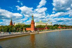 The Moscow Kremlin royalty free stock photo