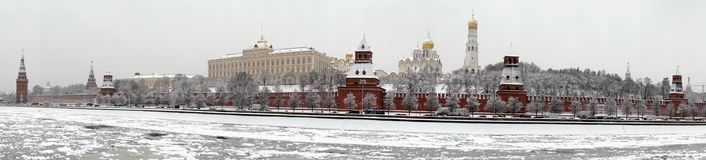 Kremlin and Moscow river panorama Royalty Free Stock Image