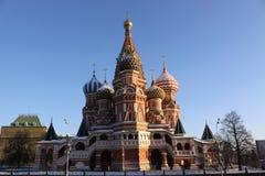 kremlin Moscow Russia Świątobliwa basilu ` s katedra Fotografia Royalty Free