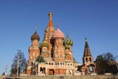 kremlin Moscow Russia Świątobliwa basilu ` s katedra Obraz Stock