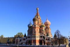 kremlin Moscow Russia Świątobliwa basilu ` s katedra Fotografia Stock