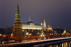 kremlin moscow russia Arkivfoto