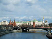The Kremlin, Moscow, Russia. The Kremlin and Moscow river, Moscow, Russia stock photography