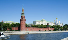 Kremlin in Moscow, Russia. View on the Kremlin Towers from across the river Stock Image