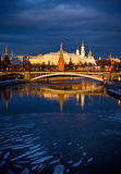 Kremlin. Moscow. Russia. Moscow. Kremlin. Russia. Sunset view form the bride royalty free stock images
