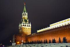 kremlin Moscow Russia spasskaya wierza Obrazy Royalty Free