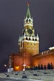 kremlin moscow russia spasskayatorn Arkivfoton