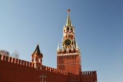kremlin moscow russia spasskayatorn Royaltyfria Bilder
