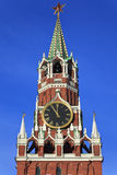 kremlin moscow russia spassky torn Royaltyfri Foto